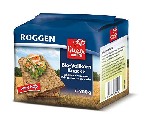 Linea Natura Bio Roggen Vollkorn Knäcke, 5er Pack (5 x 200 g)