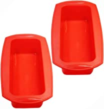 """Silicone Loaf Pans - 2Packs 9"""" Silicone Bread Cake Pans Non Stick Silicone Baking Molds"""