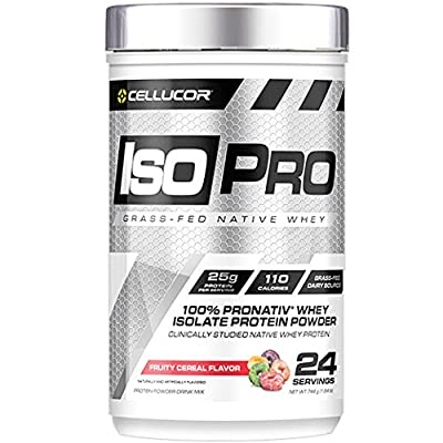 Cellucor Isopro 100% Grass Fed Native Whey Protein Isolate Powder, Fruity Cereal Flavor, 24 Servings
