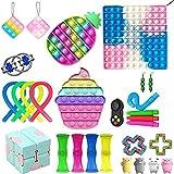 Juego de juguetes fidget para aliviar el estrés y la ansiedad, juguetes de descompresión para niños y adultos, autismo, necesidades especiales para bolsas de fiesta