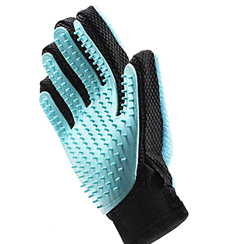 Voarge Pet Brush handschoenen, Pet Grooming Brush haarverwijderingshandschoenen, dubbelzijdig (rubber + microvezel), kattenhandschoenen (twee rechterhanden)