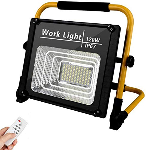 120W LED Rechargeable Floodlights, Outdoor LED Flood Light, Portable...