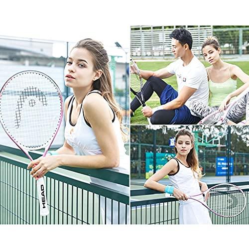 Tennis racket Raqueta de Tenis para Principiantes, Raqueta de Tenis Profesional Masculina y Femenina para Adultos, Raqueta de Tenis de Entrenamiento Individual, Fibra de Carbono