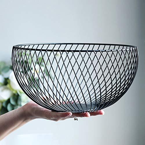 Centrotavola decorativo a cesto, per frutta, verdura, pane, in acciaio inox con design moderno, ideale in cucina