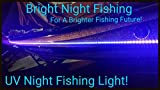 LED Black Light Night Fishing LED Strip UV Ultraviolet Boat bass Fishing 12v dc Pontoon Kayak John Boat Florescent line Glow (8ft)