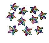 Yalulu 10 Parches de Lentejuelas con diseño de arcoíris, Parches para Planchar, Parches para Planchar