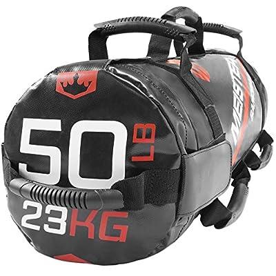 Meister 50lb Elite Fitness Sandbag Package w/ 3 Removable Kettlebells - Black from Meister