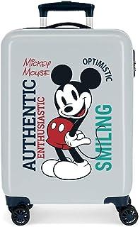 Disney Mickey Original Cabin Suitcase Blue 38 x 55 x 20 cm Rigid ABS Side Combination Closure 34L 2 kg 4 Double Wheels Hand Luggage