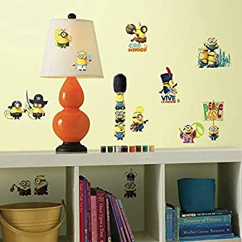 RoomMates Minions The Movie Peel and Stick Wall Decals,Multicolor