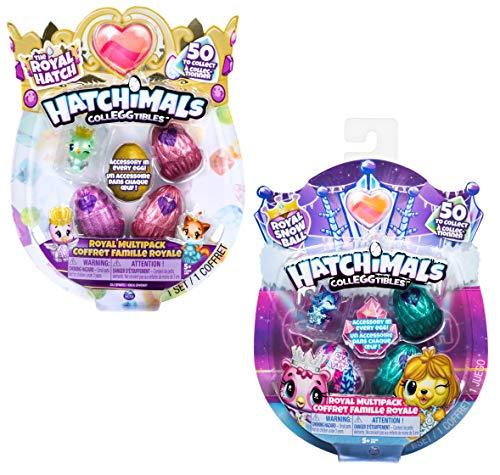 Hatchimals CollEGGtibles 6047212, Royal Multipack mit 4 Zubehörteilen, 2 Design-Varianten möglich, Multicolour