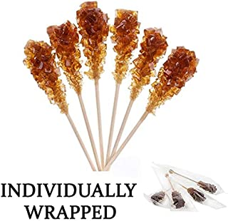 Individually Wrapped Barista Swizzle Sugar Sticks Made in the USA – Brown 100pc