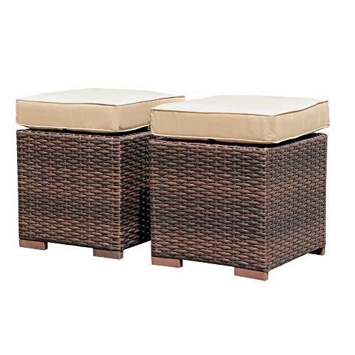 Patiorama 2-Pieces Assembled Outdoor Patio Ottoman