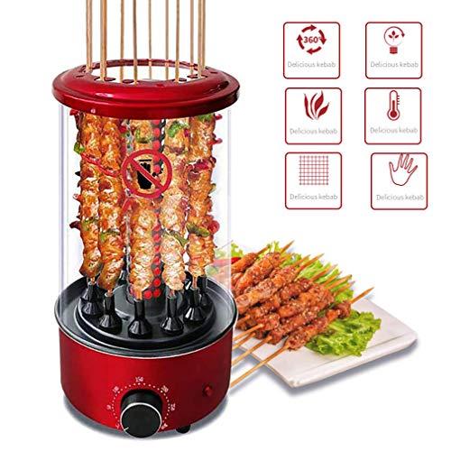 Vertical Girarrosto Girarrosto Forno, Intelligente Grill Elettrico per Barbecue Senza Fumo Girevole Automatica Kebab Machine, Fino A 300 ° C 1350W, Include 50 Sticks And Parti Smontabili