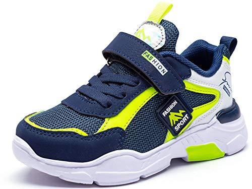 Zapatos Niño 34 Infantil Zapatillas Sneakers Zapatillas Running Unisex Zapatos Deportivos Running Shoes Al Aire Calzado Trekking Ligero Transpirables 6586-Verde