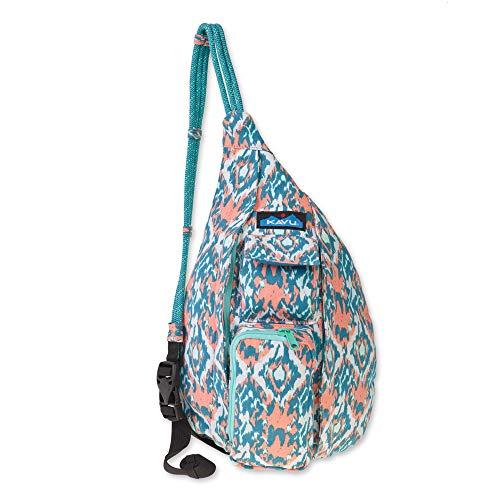KAVU Mini Rope Bag Cotton Crossbody Sling  - Beach Paint