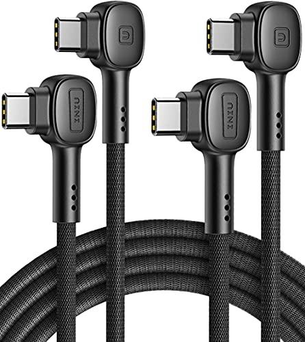 USB C Kabel, INIU 100W [2 Stück 2m] 20V/5A PD QC 4.0 Schnellladekabel USB C auf USB C Kabel, Nylon Typ C Handy Ladekabel für iPad Pro 2020 MacBook Laptop Nintendo Switch Samsung S21 Xiaomi Huawei Mehr