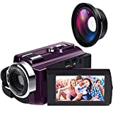 Video Camera 4K Camcorder Ultra HD WiFi Digital Camera Camcorders with...