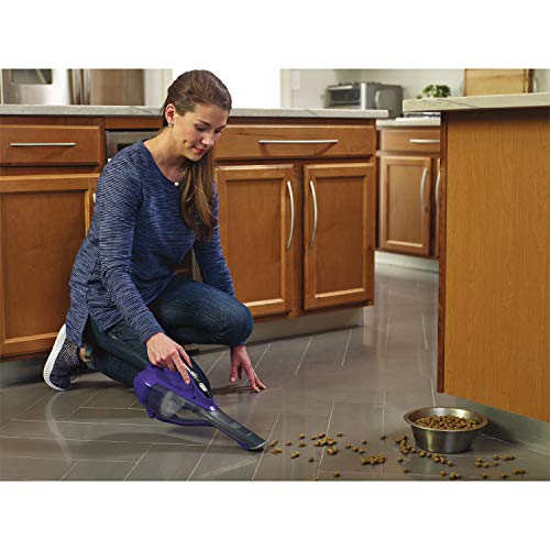 BLACK+DECKER Pet dustbuster Handheld Vacuum, Cordless, Purple (HLVA325JP07)