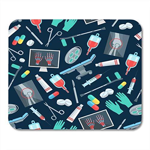 Mausunterlage Chirurgie der Chirurg-Medikations-Pille-Drogen-Kapsel-Medizin-Skalpell Mousepad für Notizbücher, Tischrechner-Mausunterlagen, Bürozubehöre 10x12 Zoll