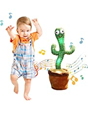 Talking CactusToy,Sing Cactus Mimicking Toy,Luminous Cactus Plush Toy, Funny Dancing Cactus Toy 120 Songs + Luminous + Recording+Talking