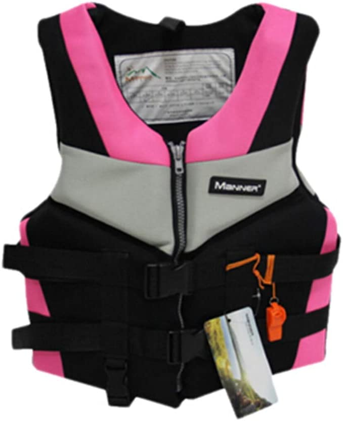 ZENING Life Jacket Float Vest,Swimming Buoyancy Aid Inflatable,Adjustable Summer Safety Snorkel,40-110kg Adult,for Boating Ski Water Sports Drifting Surfing Kayaking Fishing Surfing