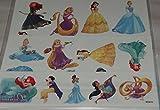Savvi 25 Temporary Tattoos - Disney Princess Tattoos - Meridia, Rapunzel, Belle, Cinderella, Ariel, Jasmine, Tiana