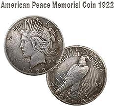 HARPIMER Coin Hobbies - 1922 Statue De La Liberté Et De La Paix Pièce Fait À La Main Craft Silver Dollar Imitation Antique Collection Eagle Collection 38MM pour Collectionneur