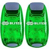 BLITZU LED Safety Lights Gear for Boat, Kayak, Bike, Dog Collar, Stroller, Walking, Runners and Night Running - Clip On, Strobe, Warning, Flashing, Blinking, Reflective Light Accessories