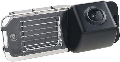 Misayaee Rear View Back Up Reverse Parking Camera in License Plate Lighting Night Version (NTSC) for VW Golf 6 Golf VI MK6 MK7 GTI GTD R20 Lupo Scirocco Passat