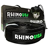 RHINO USA Recovery Tow Strap 3' x 20ft - Lab Tested 31,518lb Break Strength - Heavy Duty Draw String bag Included -
