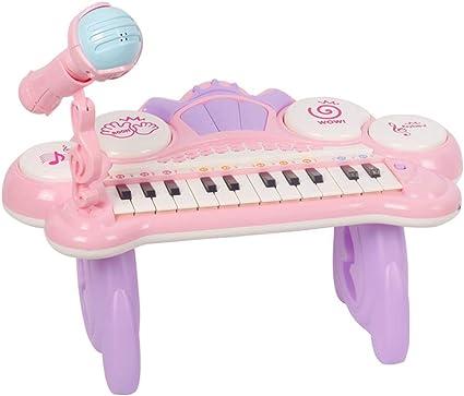 GLJJQMY Teclado de Piano de Juguete para niños con música ...