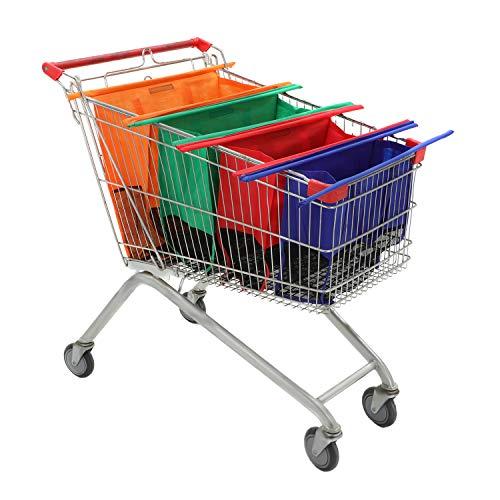 YORKING Trolley Bags 4PCS Shopping trolley shopping bag Supermarket Large...