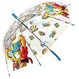 Superzings Regenschirm für Kinder, transparent, automatisch, Superthings Secret Spies für Kinder,...