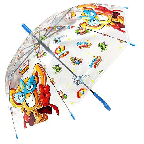 Paraguas Superzings Paraguas Transparente Infantil Automático Paraguas Superthings Secret Spies Niño, 68cm