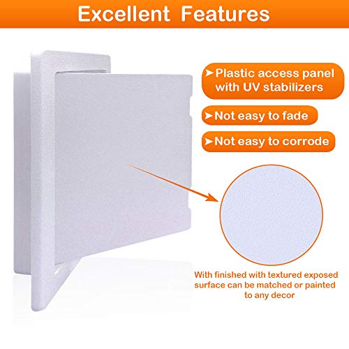 Suteck Plastic Access Panel for Drywall Ceiling 18 x 18 Inch Reinforced Plumbing Wall Access Doors Removable Hinged White