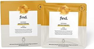 FIND - Mascarilla hidrogel sin goteo iluminadora para el contorno de ojos con oro de 24 quilates pack de 5 unidades