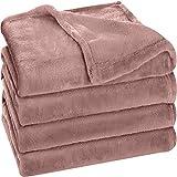 Utopia Bedding Fleece Blanket King Size Rose Pink 300GSM Luxury Bed Blanket Anti-Static Fuzzy Soft Blanket Microfiber