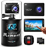 Vantop Moment 6S 4K/60FPS Action Camera SmoothFlow Stabilization/Dual Screen 8X Slow Motion /