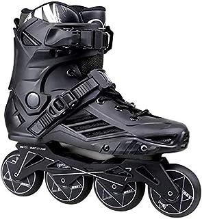 調整可能なインラインスケートクイックインラインローローラースケート調節可能サイズのスライディング障害物のプロフェッショナルな行アイススケートシューズシングルフラッシュ子供大人、2色、サイズ:35 EU / 4 US / 3 UK / 22.5c...
