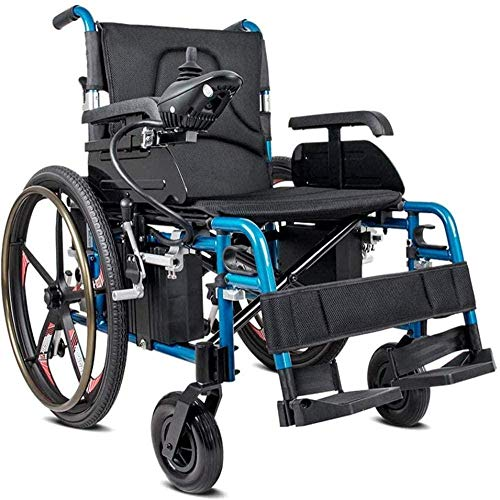 Silla de ruedas plegable de aluminio blanco ligero, con ruedas y rueda trasera de liberación rápida