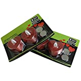 MACOSA NO88164 4er Set LED Teelicht Herz | Rot Glitzer | Hochzeits-Dekoration | inkl. Batterie | Warm-Weiß | LED Kerzen | Tisch-Deko | Romantik - 4