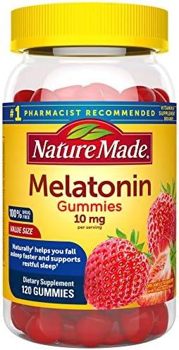Nature Made Melatonin 10 mg Gummies of Melatonin for Supporting Restful Sleep Strawberry 120 product image