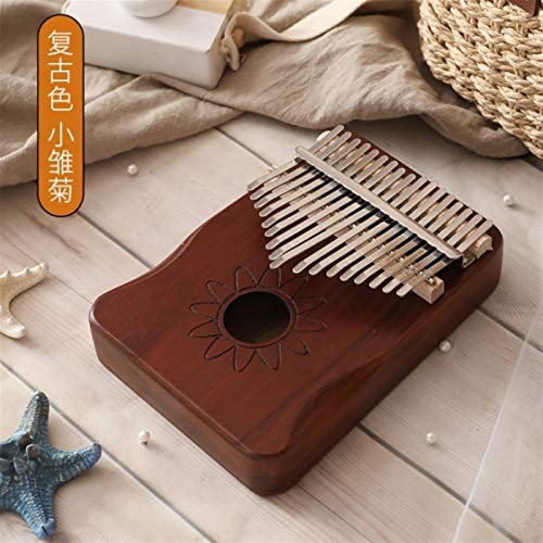Kalimba, Daumenklavier 17 Keys Kalimba Daumenklavier Tragbare Finger Piano calimba Made By Einplatinen Hochwertiges Holz Mahagoni Schlaginstrumente (Color : 2)
