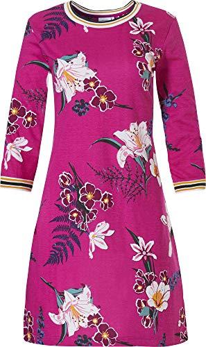 Pastunette Dames Roze Bloemen Nachtkleding Nachtjapon Lounge Draag 3/4 Mouwen Nightie (10201-192-2)