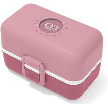 monbento - MB Tresor Rosa Blush Fiambrera Infantil - Lonchera para niños 3 Compartimientos - Caja merienda - Bento Box sin BPA - Segura y Duradera: Amazon.es: Deportes y aire libre