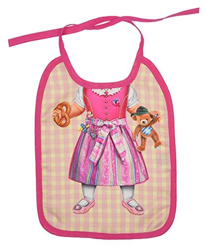 Goodman Design  Baby Lätzchen mit Süßem Motiv: Bayerisches Dirndl - Abwaschbare Lätzchen - Baby Kleidung