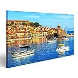 bilderfelix® Bild auf Leinwand Collioure, Frankreich,