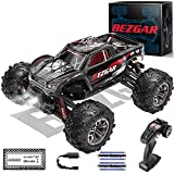 【1:20 High Speed RC Truck】Please note this is a 1/20 scale r c car. The length is 7.3 inches and the width is 7.2 inches. The BEZGAR 5 RC Truck is equipped with a headlight, which will be automatically turned on when the remote control truck is switc...