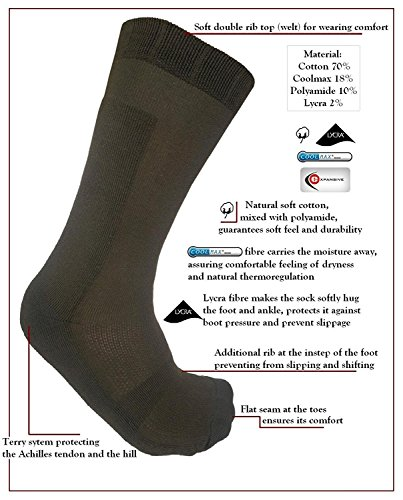 eXPANSIVE SEMI CHAUSSETTES CHAUSSURES CHASSE VERT AUTOMNE HIVER