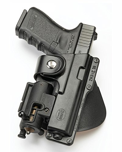 Fobus Tactical EM19RT RH Right Hand Light/Laser Polymer ROTO Paddle Holster for Glock 19 23 Walther P99